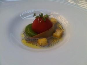 postre gourmet sorbetes y fruta pasion