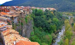 visit to castellfullit de la roca Catalonia